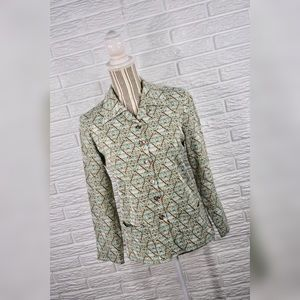 {vintage 60s/70s} Lightweight Patterned Jacket
